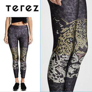 "TEREZ- ""Crystal Leopard"" Leggings-small"